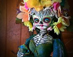 Beautiful Mortal Dia De Los Muertos Princess Doll canon PRINT 606 Reproduction by Michael brown