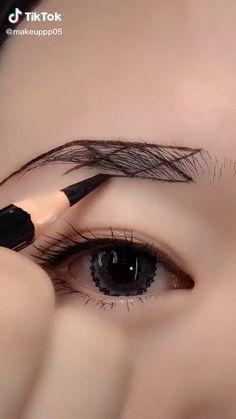 Black Makeup, Pink Makeup, Cute Makeup, Simple Makeup, Makeup Art, Beauty Makeup, Eyebrow Makeup Tips, Makeup Eye Looks, Eye Makeup Steps