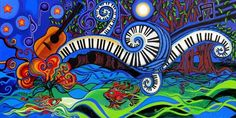 paintings of musicians #art #music http://www.artpromotivate.com/2013/07/paintings-of-musicians-jazz-blues.html