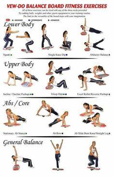 Balance board exercises...