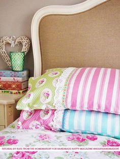 How To Sew A Pillowcase - Heart Handmade uk