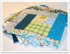 quilt as you go log cabin #quilt blocks #tutorial in english and german