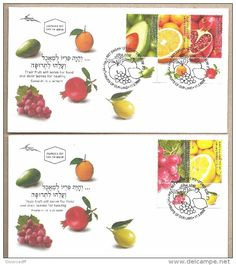 Israel 2 FDC´s Fruits Of Israel Year 2009