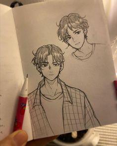 Sketchbook Drawings, Art Drawings Sketches Simple, Cute Drawings, Henna Drawings, Human Art, Cartoon Art Styles, Anime Sketch, Art Reference Poses, Art Plastique