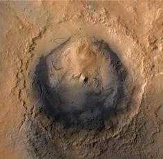 Galecrater.jpg high-res. (1564×1528)  Curiosity's landing spot  © NASA/JPL