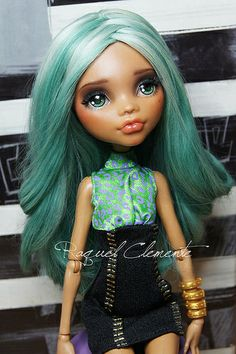 OOAK Monster high custom / repaint Clawdeen Wolf by RaquelClemente, via Flickr