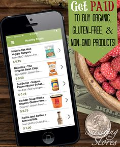 This app lets you get money back on tons of your healthy food purchases!  You can get cash back on organic, gluten-free and non-gmo foods!