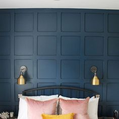[New] The 72 Best Home Decor Ideas Today (with Pictures) - These are the 72 best home decor ideas today (with pictures). According to home decor experts,. Blue And Pink Bedroom, Gold Bedroom, Home Decor Bedroom, Modern Bedroom, Bedroom Wall, Bedroom Ideas, Home Decor Styles, Home Decor Accessories, Stiffkey Blue