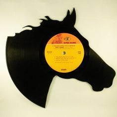 Recycled Vinyl Record HORSE Wall Art by SecondSpinDesigns on Etsy