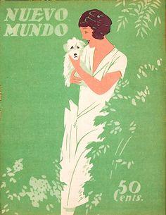 Nuevo Mundo. An original cover for the Spanish magazine Nuevo Mundo, 1924.