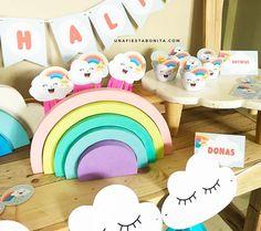 nubes arcoiris imprimibles para fiestas cumpleaños ideas para fiestas nubes y arcoiris Invitación para imprimir nubes y arcoiris #imprimibles #nubesyarcoiris #acoiris