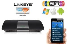 Linksys AC1600 Wireless Dual-Band+ Router with Gigabit & USB Ports & Smart Wi-Fi App Enabled - Up to 3X Faster Than Wireless-N