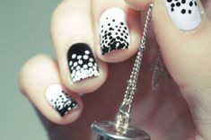 75 Nail Designs Decorated with Points and Incredible Stripes nail designs with colored dots Striped Nail Designs, Dot Nail Designs, Creative Nail Designs, Beautiful Nail Designs, Creative Nails, Black Nails, Pink Nails, Pink Dye, Polka Dot Nails