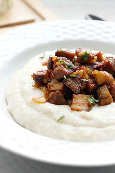 Smoky Barbecue Ribs over Cheesy Grits   Fabtastic Eats
