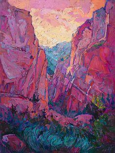 """Saatchi Art Artist Erin Hanson; Painting, """"Canyon Rays - SOLD"""" #art"""