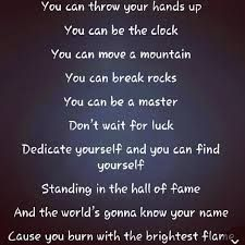 fav song-- Hall of Fame-- lyrics Can't wait to paint these lyrics for both my kiddos. Want them to see it on their wall every morning. <3