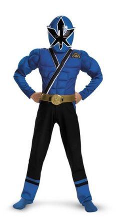 Blue Ranger Samurai Classic Muscle Costume - Small (4-6) $31.85