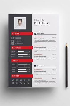 Paper Size Two Page/Template Resume/CV One Page/Template Reference & One Page/Template Cover Letter Included Icons Pack Paragraph & Character Style Document & Baseline Grid Fully… Resume Layout, Resume Format, Resume Cv, Basic Resume, Visual Resume, Cv Format, One Page Resume, Simple Resume, Modern Resume