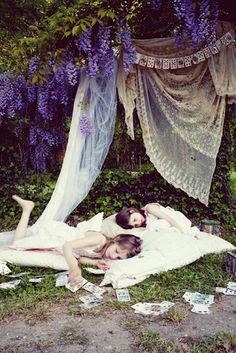 I do this every summer <3 sleep under the sun with tapestries all around