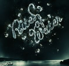 """rites of water"" typography"
