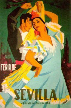 1963 Feria de Sevilla ~ Manuel Flores Pérez | #Feria #Seville #ManuelPérez