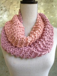 Blush & Bashful Infinity Scarf Pink Lavender - Colorblock Scarf - Ready to Ship - Circle Loop Scarf by IndustrialWhimsy on Etsy https://www.etsy.com/listing/161000553/blush-bashful-infinity-scarf-pink