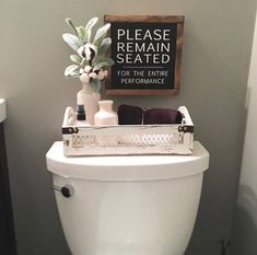 *** RUSH ORDERS ARE ADDITIONAL $12.00*** Please message us prior to ordering so we can set this up for you.. . . Please remain seated, Bathroom Sign, Bathroom Decor, Farmhouse sign, Rustic Decor, Home Decor, Bathroom, Christmas, Wood Sign Please Remain Seated wood sign measures