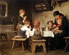 the family that prays together stays together; Ferdinand Georg Waldmuller