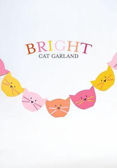 Bright cat garland