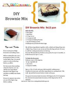 DIY Brownie Mix.  Cooking With My Food Storage