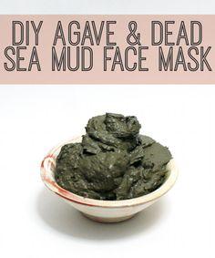 DIY Beauty Recipe - Natural Agave and Dead Sea Mud Detoxifying Face Mask Recipe