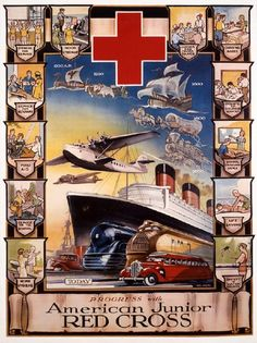 A historical Red Cross poster.