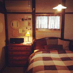 mini.makiさんの、アンティーク,照明,和室,ミラー,ベッド周り,のお部屋写真
