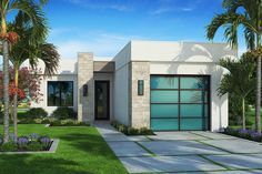Plan 86086BS: Contemporary Beach House Plan With Outdoor Living Space