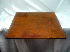 Plate covered with VeroMetal Iron, rusty, corten steel look