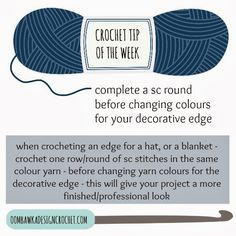 Are you planning on using a different colour to edge your crochet project? You may want to use this tip to help you create a professional edge!