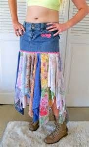 upcycled gypsy boho jean skirts - Yahoo Search Results Yahoo Image Search Results