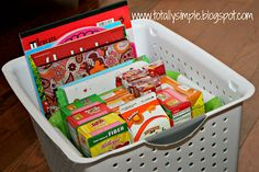 Traveling with Toddler... Travel Basket