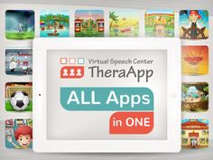 Virtual Speech Center has developed over 40 apps targeting: articulation, phonology, syntax, sentence structure, vocabulary, prepositions, plurals, word retrieval, concepts, categories, sequencing, following directions, problem solving, etc. http://www.virtualspeechcenter.com/apps