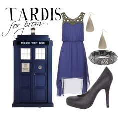 """TARDIS for prom"" by companionclothes on Polyvore"