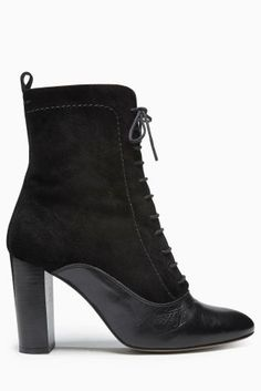 Buy Leather Material Mix Lace Up Ankle Boot from the Next UK online shop