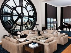 Esquire's Ultimate Bachelor Pad... Why can't it be a bachelorette pad?! Beautiful clock window!!!