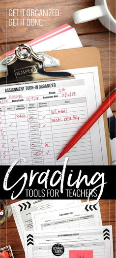 Tools to make GRADING easier: organize your piles, pinpoint who has missing/late work, track your feedback, meet accommodations, and more! Ready for all teachers, any subject area.