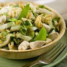 Salade de nouilles asiatiques au poulet @ qc.allrecipes.ca