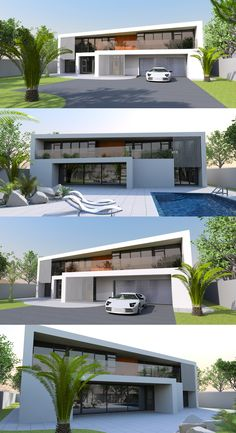 Small size home 13 4 bed bath contemporary home with for Attached garage with living space above