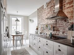 Cocina - Un apartamento que combina el estilo industrial y vintage