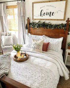 Quick and Easy Budget Friendly Farmhouse Bedroom Updates - The Cottage Market - #bedroom #Budget #Cottage #Easy #Farmhouse #Friendly #Market #Quick #Updates