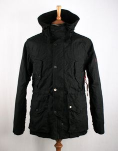 Marshall Artist Cold Weather Compact Parka With Removable Thermal Insulated Jacket - Black
