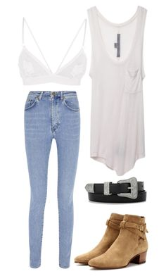 """Untitled #302"" by saracorrine on Polyvore featuring Yves Saint Laurent, Raquel Allegra, harrystyles and Inspired"