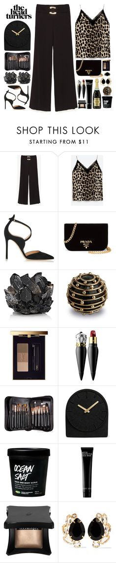 """Head turner"" by doga1 ❤ liked on Polyvore featuring Gianvito Rossi, Prada, McCoy Design, L'Objet, Yves Saint Laurent, Christian Louboutin, Rebecca Minkoff, Sigma, LEFF Amsterdam and Bobbi Brown Cosmetics"
